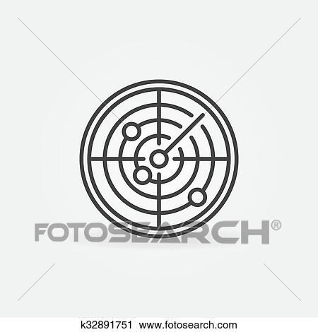 Clipart Of Radar Icon Or Logo K32891751 Search Clip Art