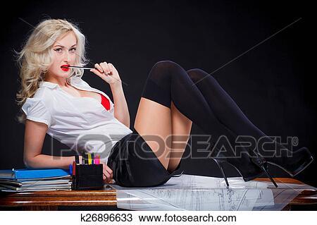 Sexy girl with teacher