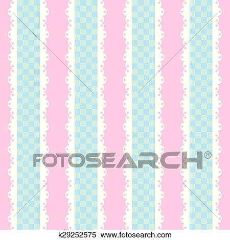 Vintage Shabby Chic Style Background With Checkered