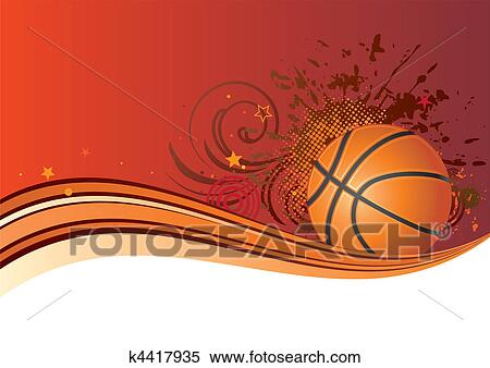 Clipart Of Basketball Background K4417935 Search Clip Art