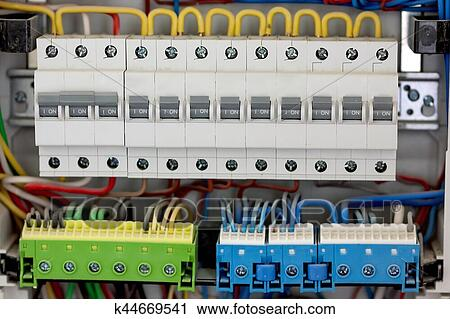 stock photography of electical distribution fuseboard electrical rh fotosearch com