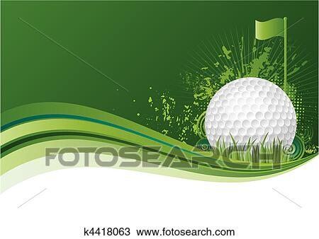 Golf Background Clipart K4418063 Fotosearch
