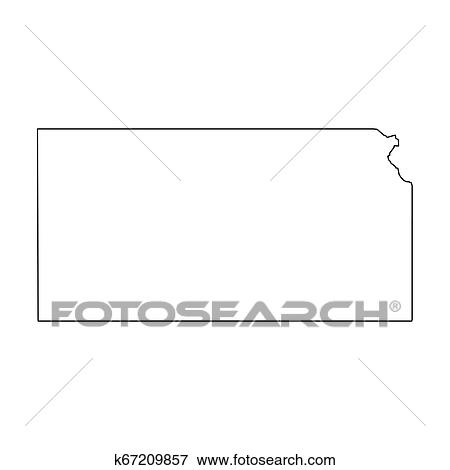 Kansas, state of USA - solid black outline map of country area. Simple on kansas state coloring sheets, kansas state pin up, kansas state purple pride, kansas state landscape,