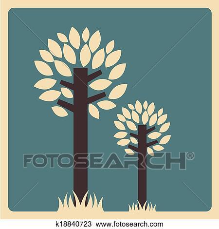 Natureza Floresta Desenho Clipart K18840723 Fotosearch