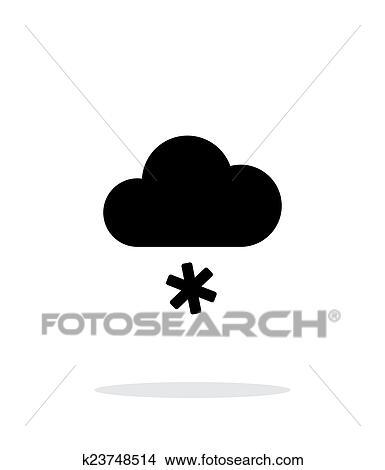 Clipart Schnee Wetter Symbol Weiß Hintergrund K23748514