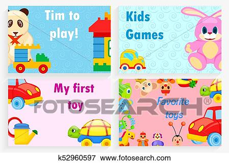 Clip Art Of Time To Play Kids Games My First Favorite Toy