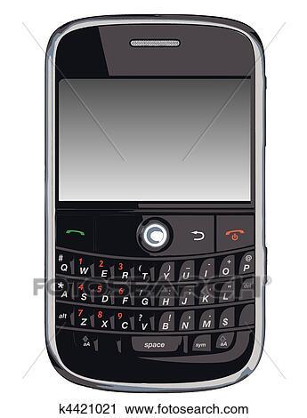 ベクトル 携帯電話 Pda Blackberr クリップアート切り張り