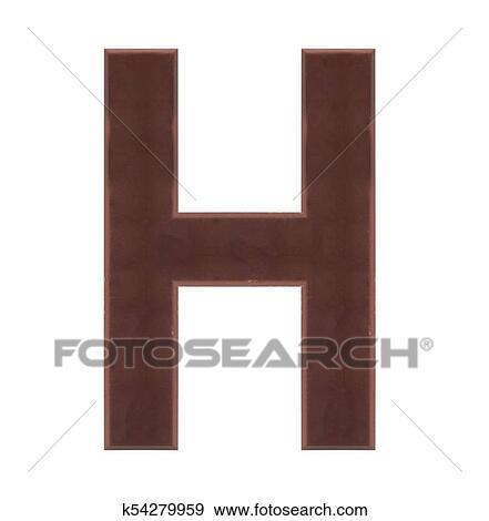 Colección de ilustraciones - aislar, chocolate, alfabeto k54279959 ...