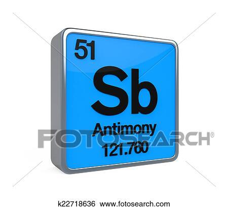 Stock Illustration Of Antimony Element Periodic Table K22718636