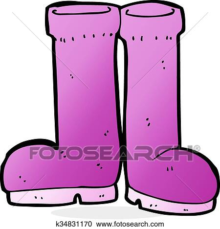 clipart of cartoon rubber boots k34831170 search clip art