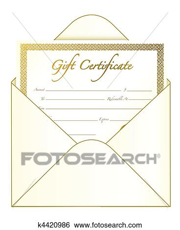 clip art of gift certificate k4420986 search clipart illustration