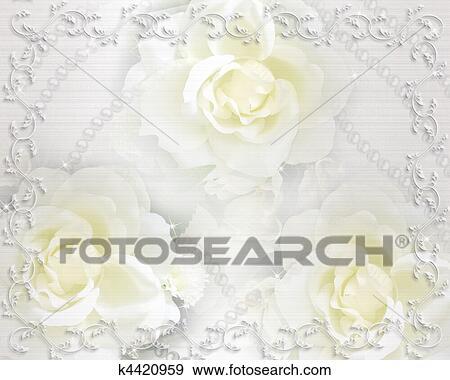 Stock Illustration Hochzeitskarten Hintergrund Rosen K4420959