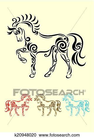 a693c22445e Horse Clipart | k20948020 | Fotosearch