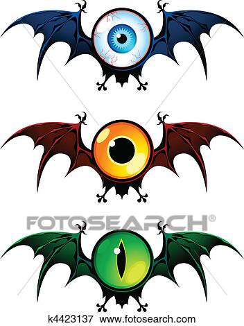 Clip Art Ojos Volando De Pesadilla K4423137 Buscar Clip Art