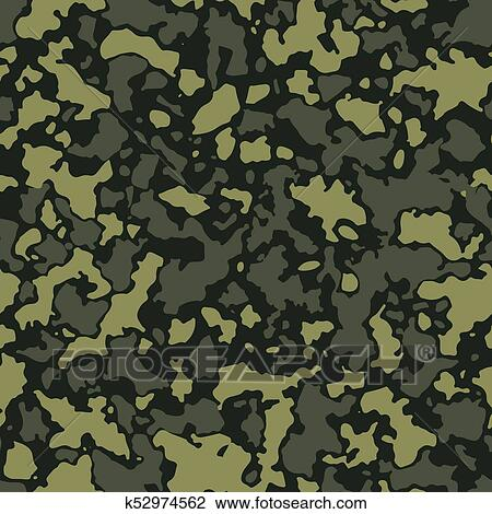 Clipart Of Seamless Camouflage Pattern With Mosaic Of Abstract Gorgeous Army Pattern