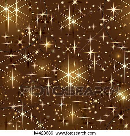 Clip Art Seamless Cielo Stellato Natale Longherone K4423686