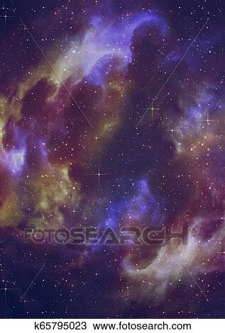 Starry Nebula Clouds Drawing K65795023 Fotosearch