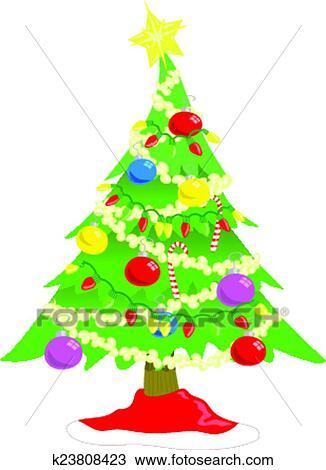Clipart Weihnachtsbaum K23808423 Suche Clip Art Illustration