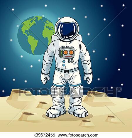 Astronauta spazio cartone animato disegno clipart k
