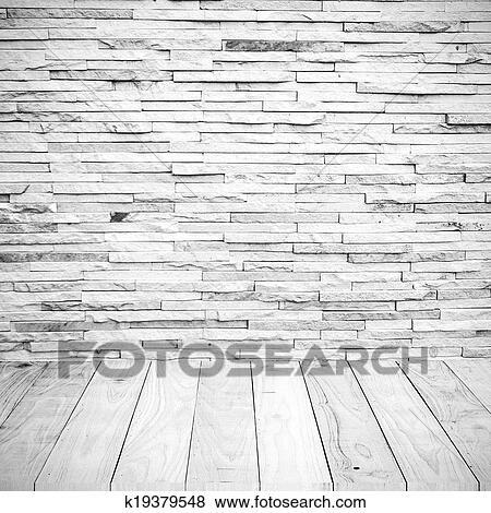 blanco azulejo pared ladrillo con piso de madera fondo textura - Pared Ladrillo Blanco