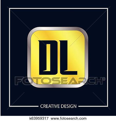Initial Letter Dl Logo Template Design Vector Illustration Clip Art K63959317 Fotosearch
