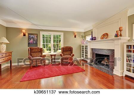 Nice Living Room With Vintage Furniture