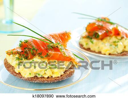 Scrambled Egg And Smoked Salmon On Toast
