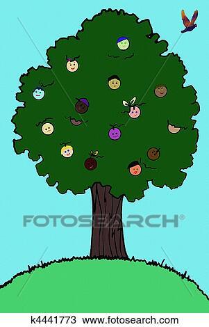 Dibujo árbol De La Vida Ilustración K4441773 Buscar Clip Art