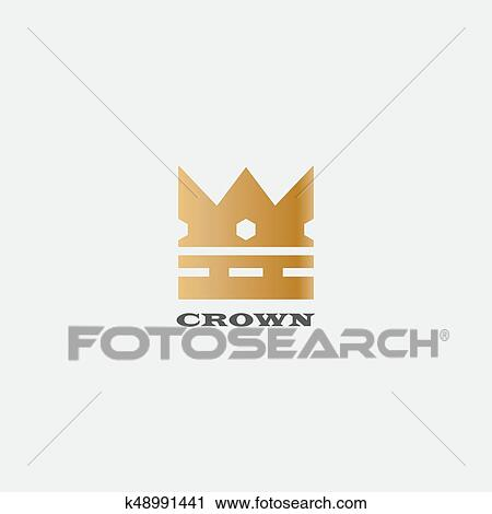 Geometrique Vendange Couronne Resume Logo Conception Vecteur Template Vendange Couronne Logo Royal Roi Reine Symbole Logotype Concept Icone Clipart K48991441 Fotosearch