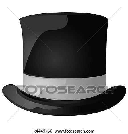 clipart chapeau haut de forme k4449756 recherchez des cliparts des illustrations des. Black Bedroom Furniture Sets. Home Design Ideas