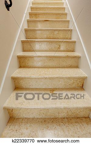 Marble Staircase In Soft Ivory Tone
