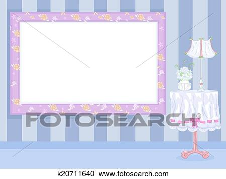 Clipart of Shabby Chic Floral Frame k20711640 - Search Clip Art ...