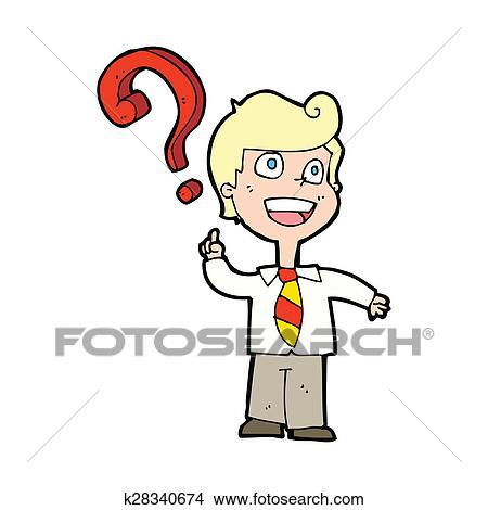 Dibujos Caricatura Escolar Preguntar Pregunta K28340674
