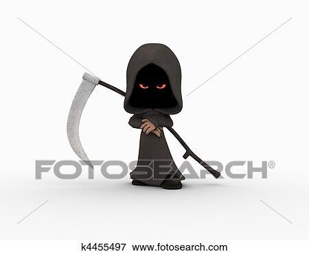 Cartoon Grim Reaper Character Stock Illustration K4455497 Fotosearch