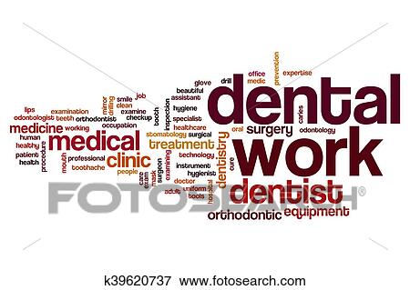 stock illustration of dental work word cloud k39620737 search eps