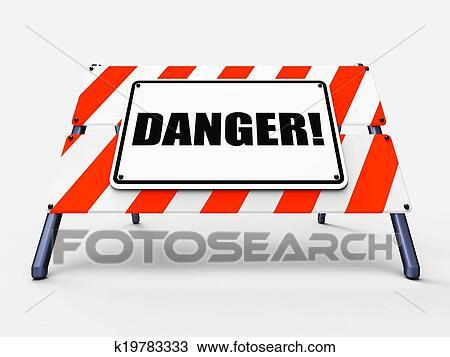 Gefahrenschild Mittel Hüten Achtung Oder Gefährlich Zeichnung