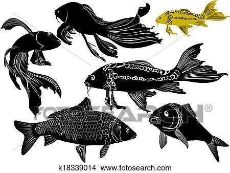 Kresby Goldfish Kapr K18339014 Hledat Klipartove Ilustrace