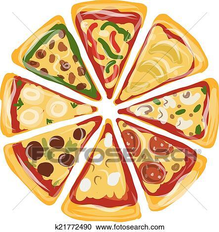 Clipart Pezzi Di Pizza Schizzo Per Tuo Disegno K21772490