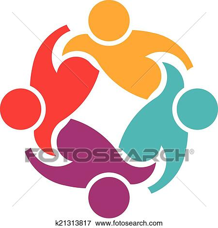 clip art of teamwork support 4 image logo k21313817 search clipart rh fotosearch com support clipart free support clipart