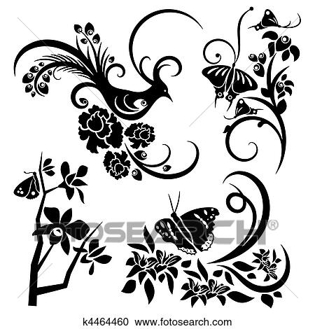 chinese ornament sets clipart k4464460 fotosearch https www fotosearch com csp446 k4464460