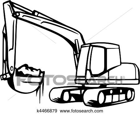 clip art of earth moving vehicles k4466879 search clipart rh fotosearch com clip art of vehicle clipart of transportation vehicles
