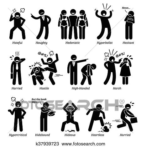 clipart of negative character traits k37939723 search clip art