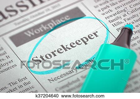 Storekeeper Clipart And Illustrations