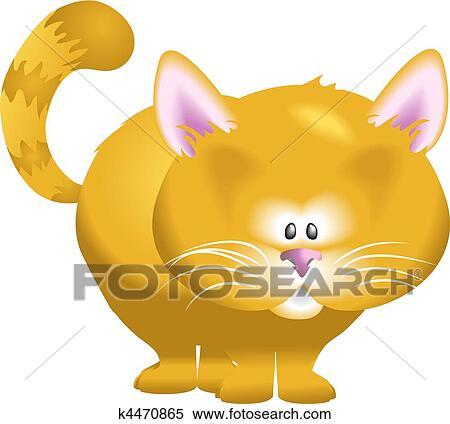かわいい ネコ イラスト クリップアート切り張りイラスト絵画