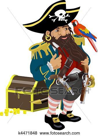 海賊 イラスト クリップアート K4471848 Fotosearch