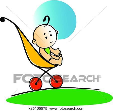 Klipart Akilli Ufak şey Oturan Bebek Içinde Lâ Notasi