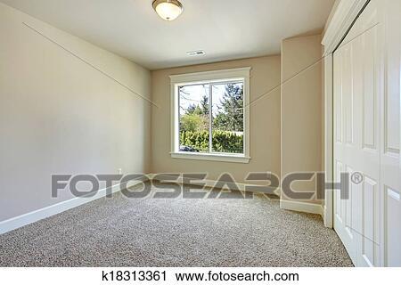 Bright Empty Bedroom Stock Image K18313361 Fotosearch