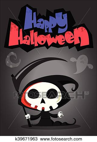 Cartone animato reaper torvo vettore clipart k39671963 fotosearch