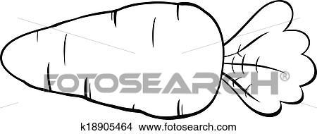 Clipart noir blanc dessin anim carotte k18905464 - Dessin de carotte ...
