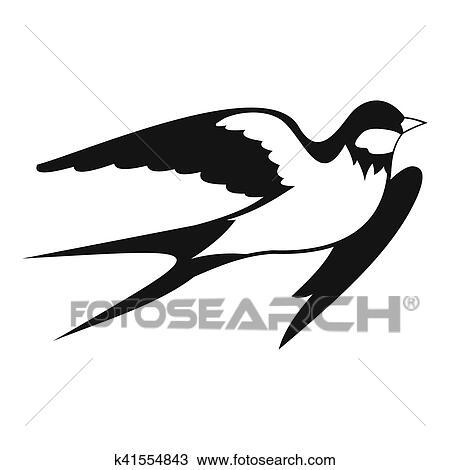 Andorinha Celeiro Icone Simples Estilo Desenho K41554843